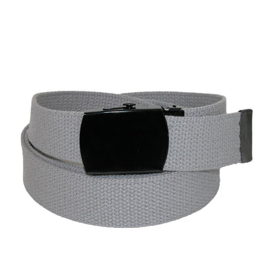Fabric Big & Tall Adjustable Belt with Black Buckle