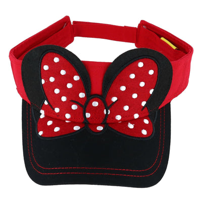 Disney Women's Minnie Mouse Visor with 3D Ears and Bow