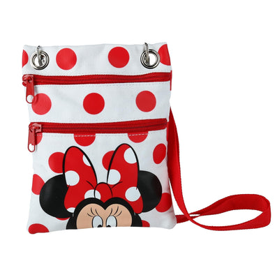 Disney Minnie Mouse Polka Dot Passport Crossbody Bag