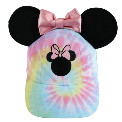 Disney Kids' Tie Dye Minnie Mouse Baseball Cap with Bow and 3D Ears