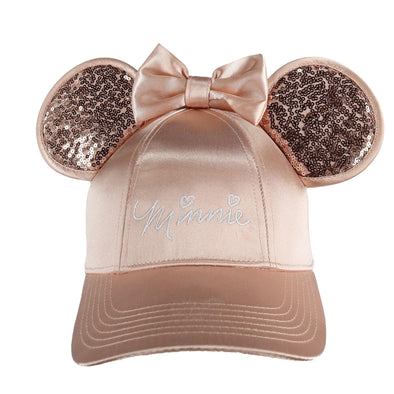 Disney Women's Minnie Mouse Baseball Cap with 3D Bling Ears