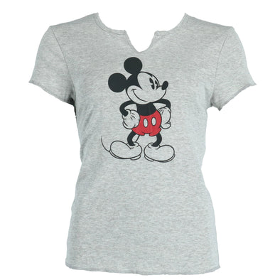 Women's Mickey Mouse V Neck Tee Shirt