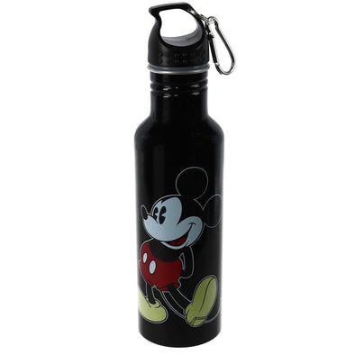 Disney Mickey Mouse Aluminum Water Bottle with Carabiner Hook
