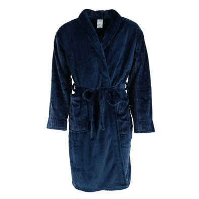 Men's Cable Shawl Collar Plush Robe