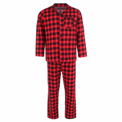 Men's 100% Cotton Flannel Long Pajama Set