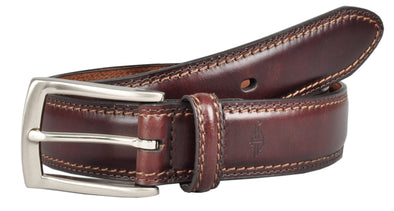 Men's Leather Feather Edge Padded Belt