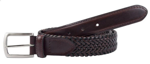 Men's Tubular Leather Stretch Belt