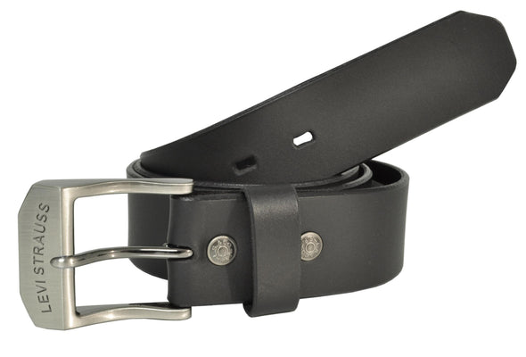 Men's Big & Tall Leather Beveled Edge 1 1/2 Inch Bridle Belt
