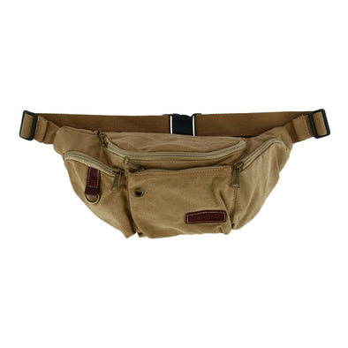 Canvas Multi Pocket Crossbody Fanny Waist Pack