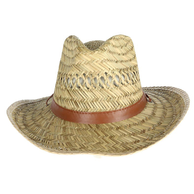 Men's Rush Straw Lightweight Safari Hat with Chin Cord