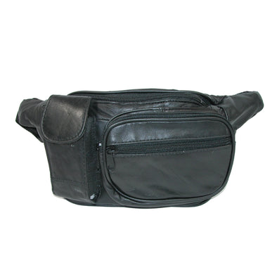 Leather Multiple Pocket Fanny Waist Pack