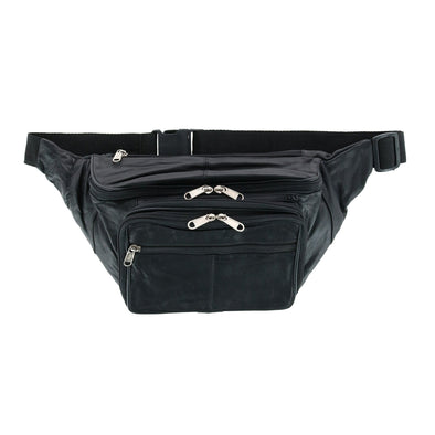 Leather Large Organizer Fanny Waist Pack