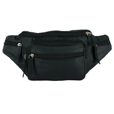 Leather Fanny Waist Pack With Multiple Pockets