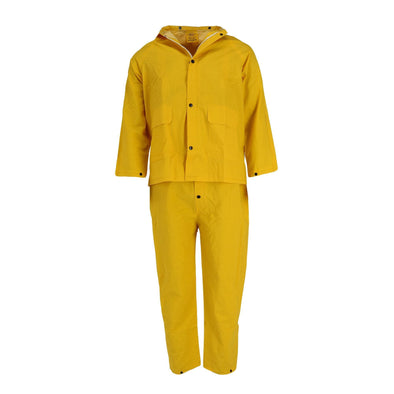 Men's 3 Piece Overall Pants and Jacket Rain Suit with Hood