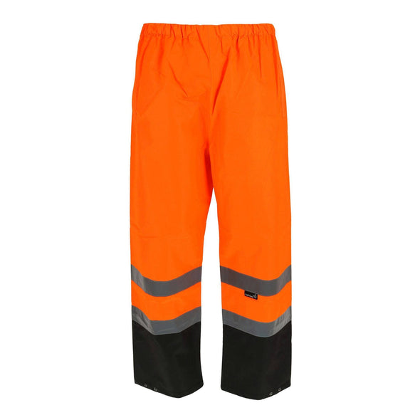 Men's Fluorescent Waterproof Pants with Reflective Strips
