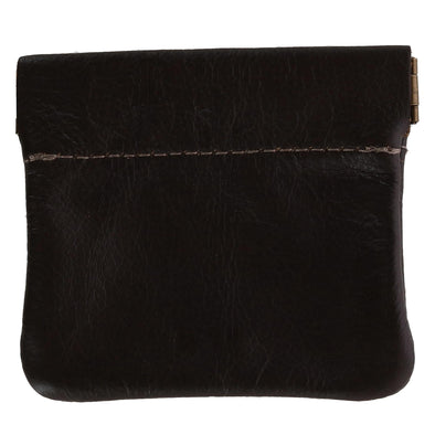 Leather Squeeze Coin Pouch