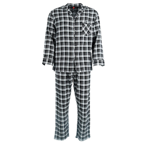 Men's Big and Tall Cotton Flannel Pajama Set