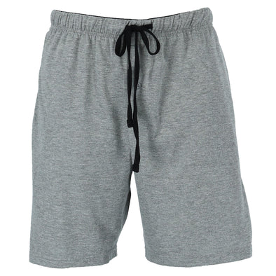Men's Jersey Knit Cotton Button Fly Pajama Sleep Shorts