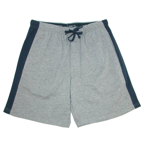 Men's Big and Tall Knit Sleep Shorts with Side Panel