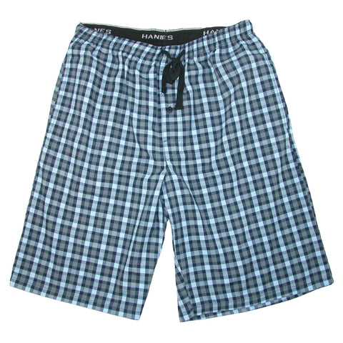 Men's Cotton Madras Drawstring Sleep Pajama Shorts