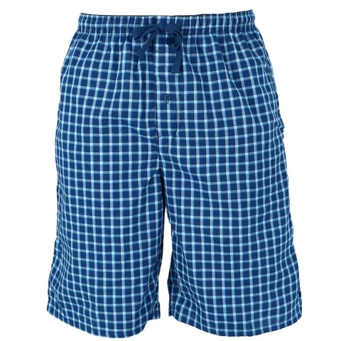 Men's Big and Tall Madras Sleep Pajama Shorts