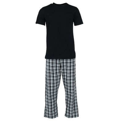 Men's Tee and Woven Sleep Pant Pajama Set