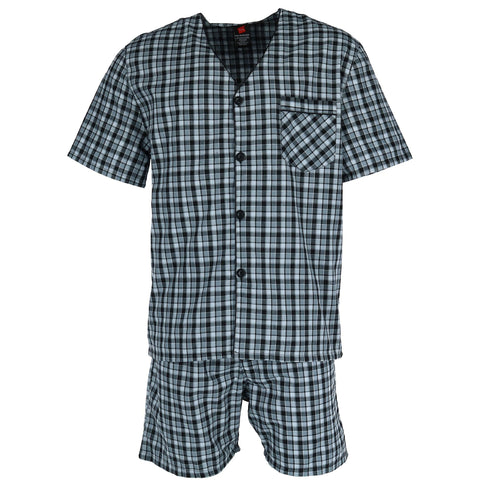 Big and Tall Short Sleeve Short Leg Pajama Set