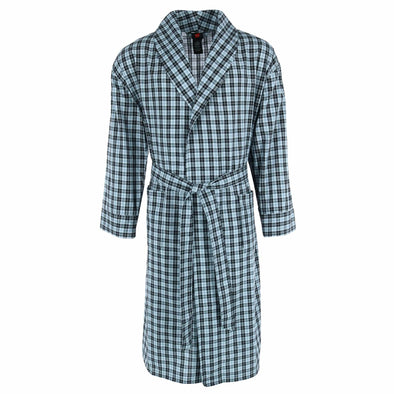 Men's Cotton Flannel Robe with Pockets