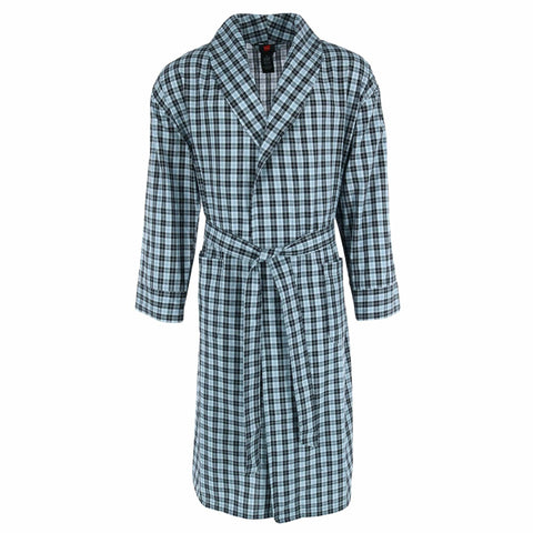Hanes Men's Cotton Flannel Robe with Pockets