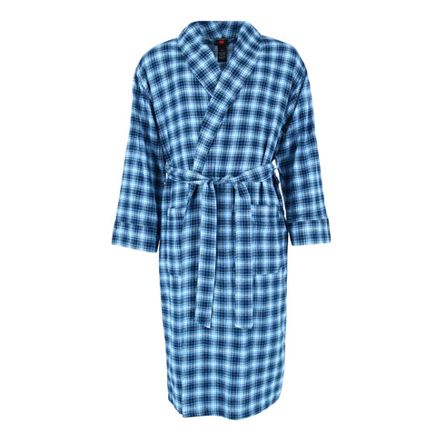 Men's Big and Tall Cotton Flannel Robe
