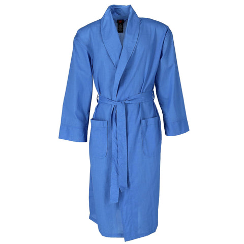 Men's Lightweight Woven Broadcloth Robe
