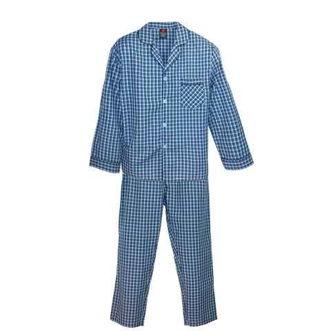 Men's Broadcloth Long Sleeve Pajama Set