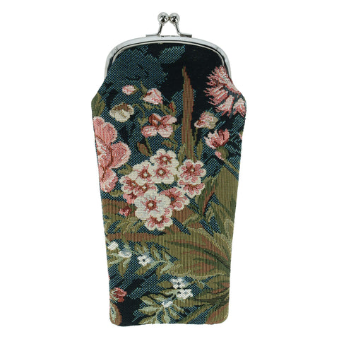 Women's Floral Print Tapestry Glasses Case