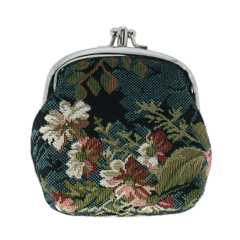 Women's Floral Print Tapestry Coin Purse Wallet