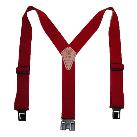 Men's Elastic Ruf-N-Tuf Hook End Suspenders (Tall Available)