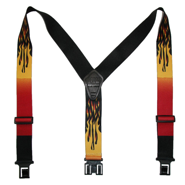 Men's Elastic Hook End Flame Suspenders (Tall Available)