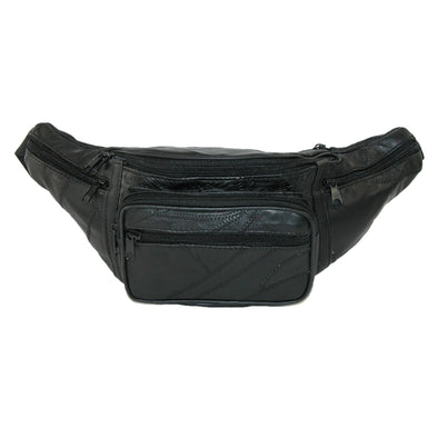 Patch Leather Large Fanny Waist Pack