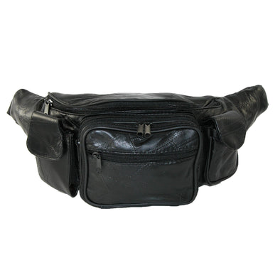 Leather with Smart Phone Large Fanny Waist Pack