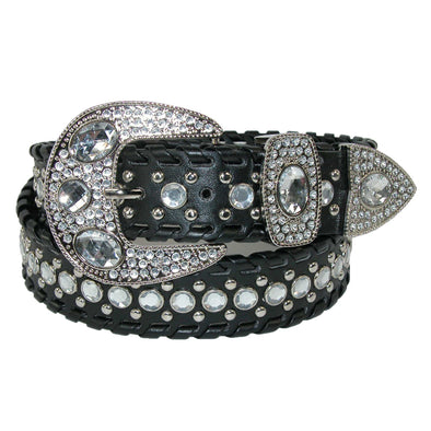 Women's Western Belt with Rhinestones and Studs