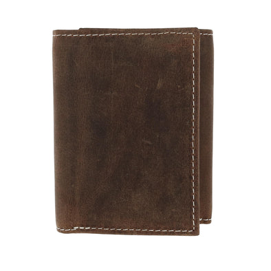 Men's Crazy Horse Leather RFID Trifold Wallet