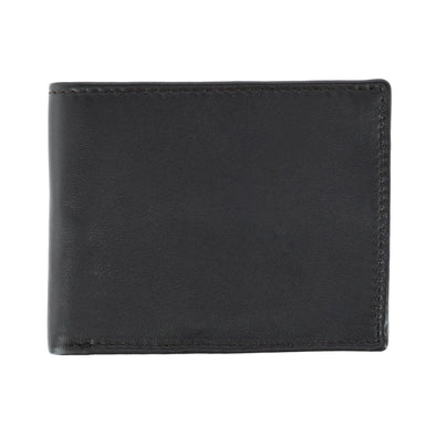 Men's Leather RFID Bifold Wallet with Flip Out Passcase