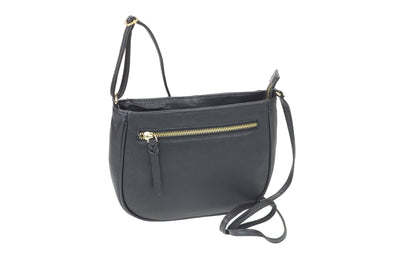 Women's Leather Top Zip Crossbody Handbag