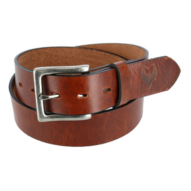 Men's Removable Buckle Bridle Belt with Phoenix