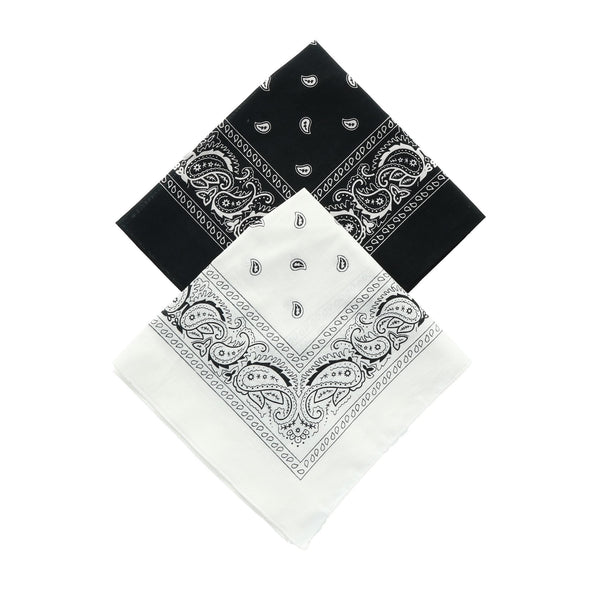 Black and White Duo Bandana Pack (Pack of 2)