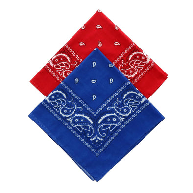 Navy and Red Duo Bandana Pack (Pack of 2)