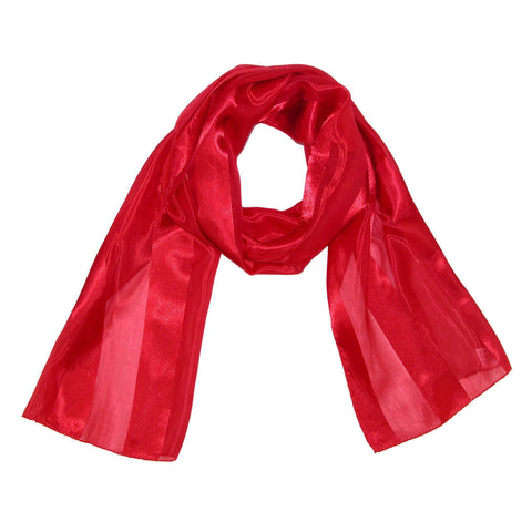 Women's Long Solid Satin Scarf