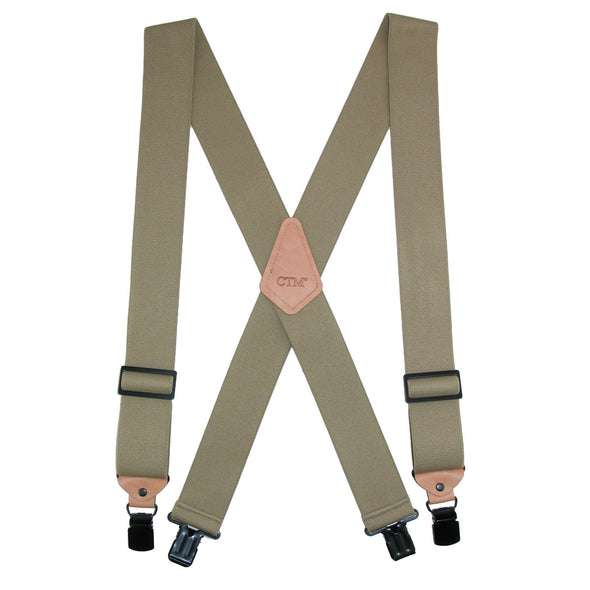 Men's Heavy Duty Clip-End Work Suspenders