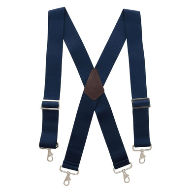 Men's Industrial Terry Logger Suspenders with Metal Swivel Hook Ends