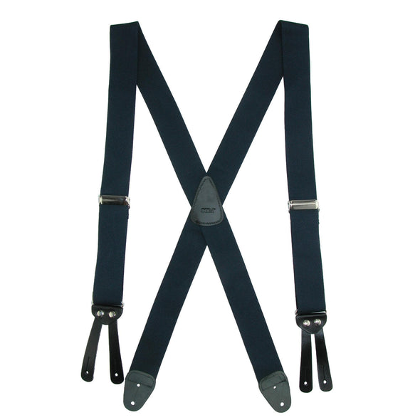 Men's Elastic Basic X-Back Button-End Suspenders