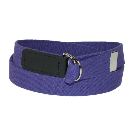 Cotton Plus Size Web 1 1/4 Inch Belt with Double D Ring Buckle